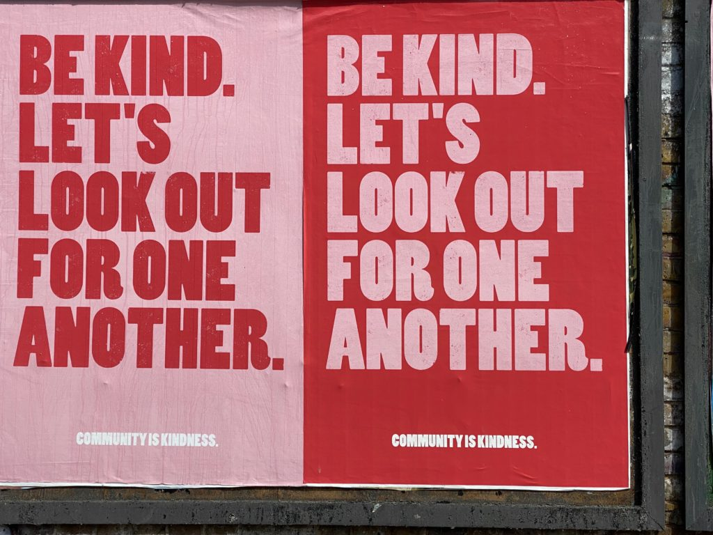 'Be Kind' poster